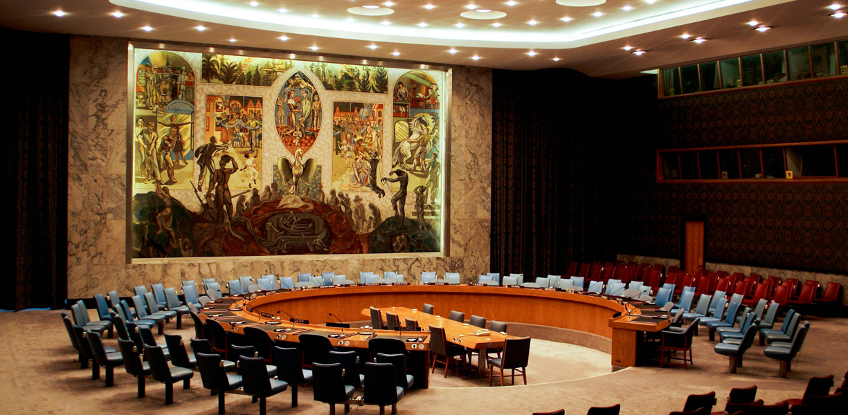 Mural at the United Nations Security Council Chamber