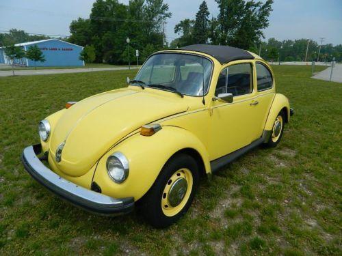 1974 Yellow Volkswagen Beetle